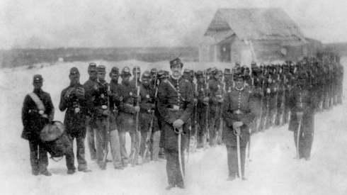 2nd Louisiana Native-Guard-Company-Formation-on-Ship-Island
