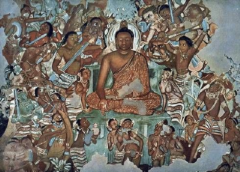 Ancient Buddhist art. Obviously Buddha was dark skinned
