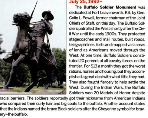 BUFFALO SOLDIERS MONUMENT