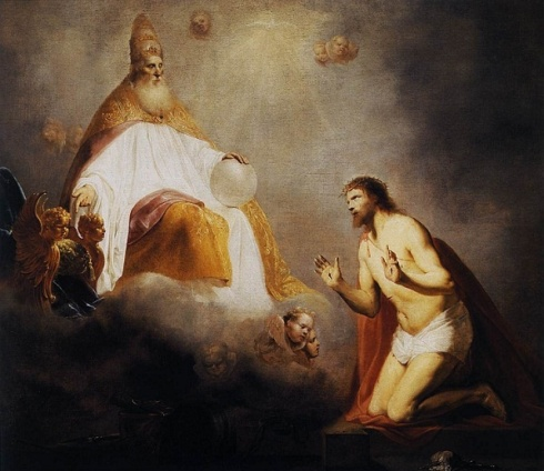 Caucasian god and his Caucasian son.