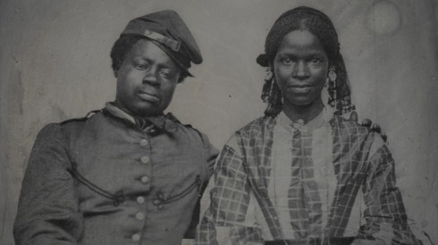 Civil war soldier and wife
