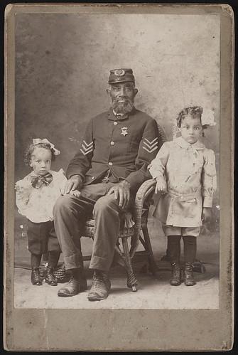 Civil War vet and his family