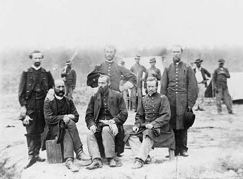 Field and Staff of 39th U.S. Colored Infantry in front of St. Petersburg Va., Sep. 1864