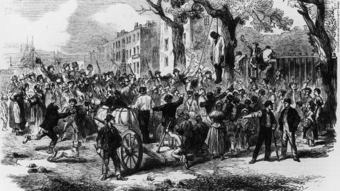 lynch-mob in NYC during draft riots