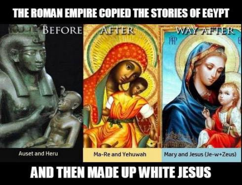 Auset and Heru became Mary and Jesus