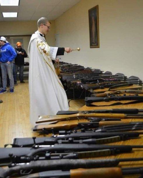 Evildoer blessing guns