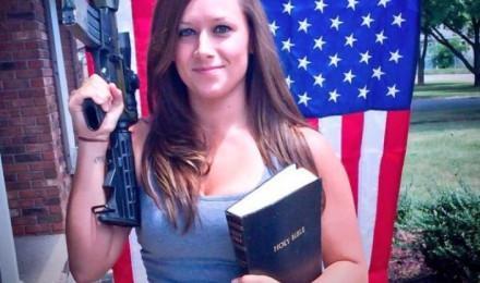 gun and bible Caucasian Christian