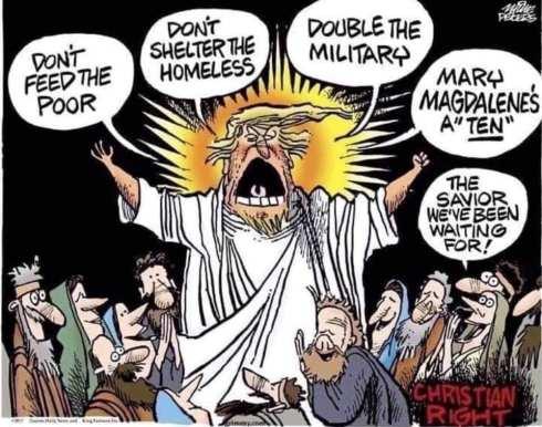 Trump, saviour for Christian hypocrites