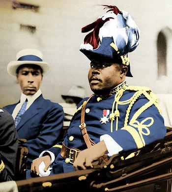Garvey and his bodyguard