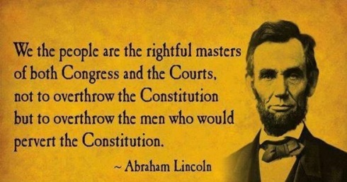Abraham Lincoln quote about traitors like Trump