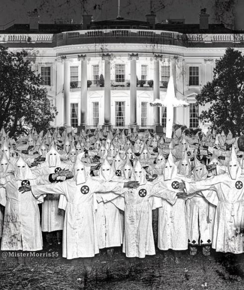 KKK at the 'white house'