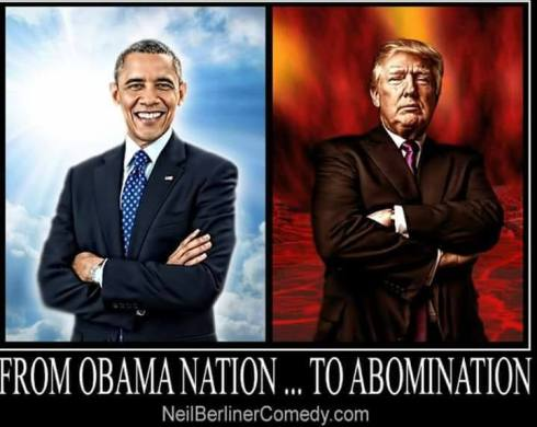 TRUMP THE ABOMINATION