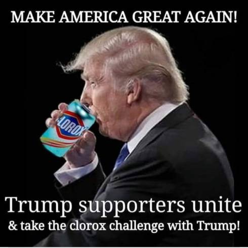 Trump's clorox challenge