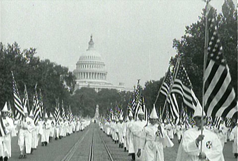 ungodly Kluxers marching in Washington DC 100 years ago. Thanks to Trump it may happen again.
