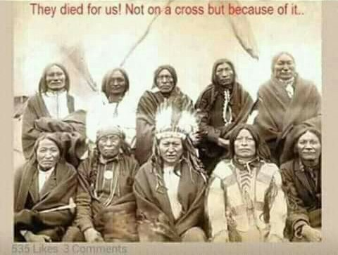 Natives died because of cross.