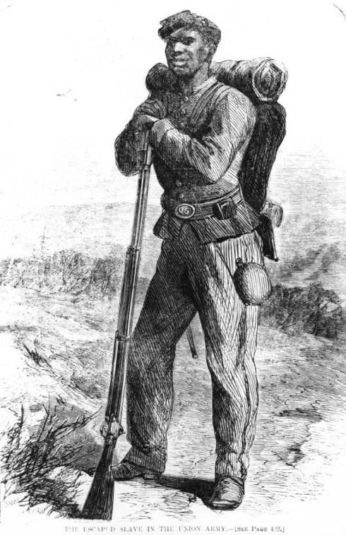 Colored Civil War soldier