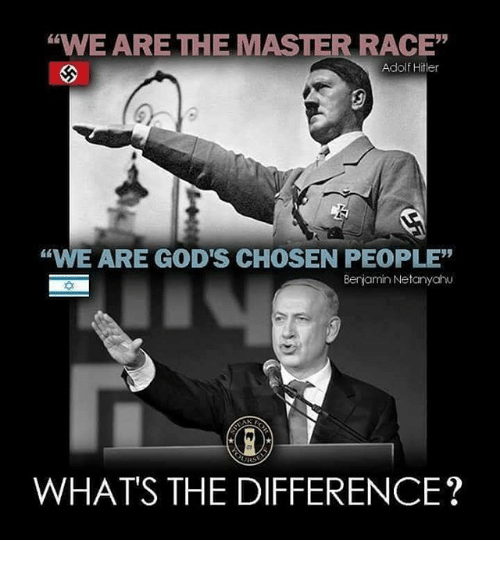 #1 the master race and the chosen people mentality is same evil
