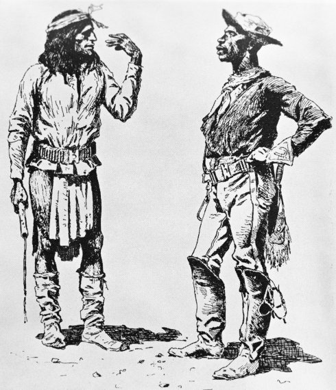 Buffalo soldier and Native