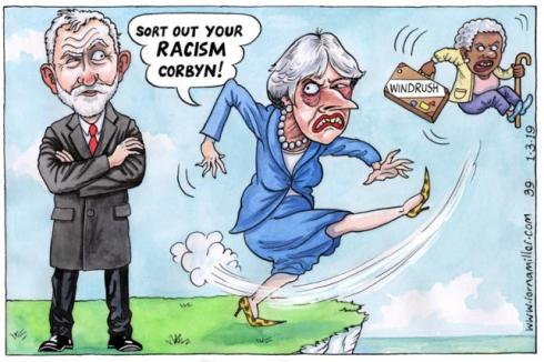 corbyn and May's racism on Windrush