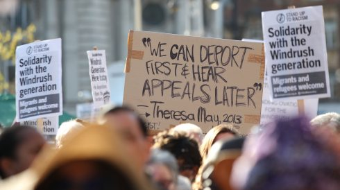 Theresa Mays 2013 deport them first and hear their appeals later. So said the devil on Windrush