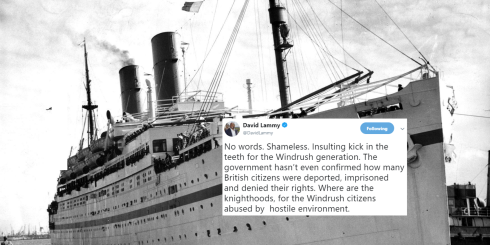 Windrush ship and later shame on the British government