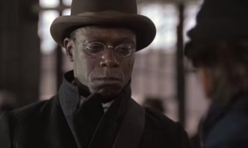 Crying negro in movie Glory