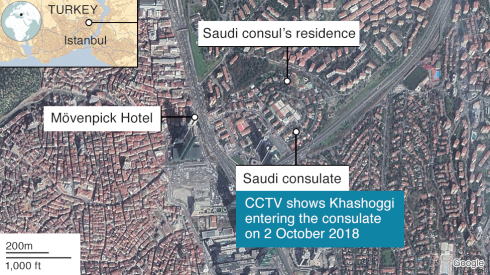 khashoggi and saudi consulate hotel where killers stayed