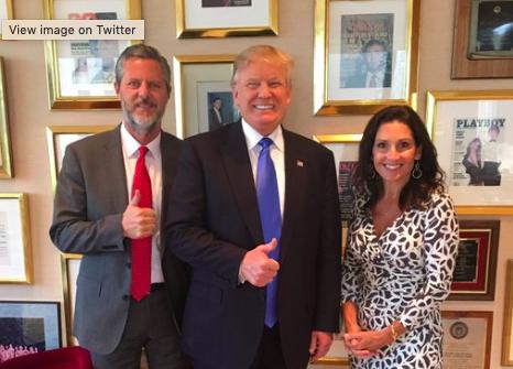 Jerry Falwell the pervert and Trump the pervert