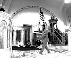 Imam Mohammed with American flag
