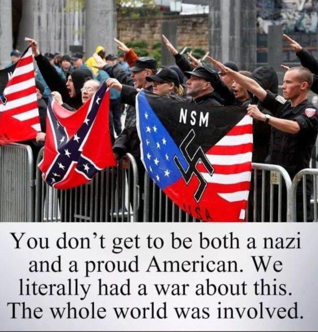 Trump and his nazi and kkk followers